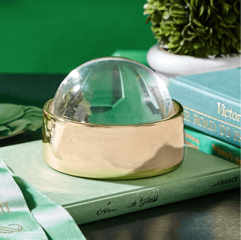 $25.00 Golden Treasure Ceramic Box with Magnifying Dome