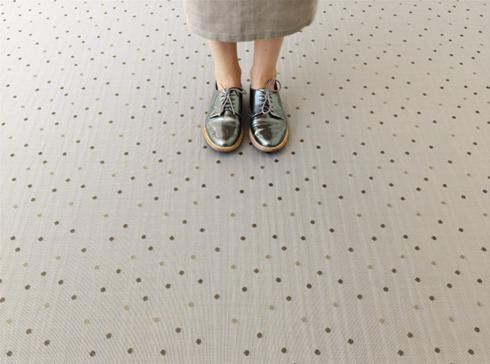$135.00 Dot Mica Floor Mat 23 x 36