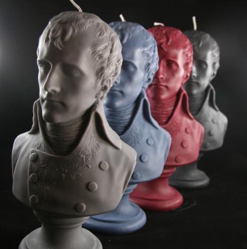 $130.00 Candle, Napoleon Handmade Bust, Heather Gray
