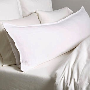 $280.00 Montauk White Body Pillow