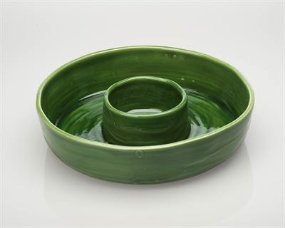 $90.00 Chip\'n\'Dip Bowl Green