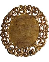Vendome Round Placemat Gold Leaf collection with 1 products
