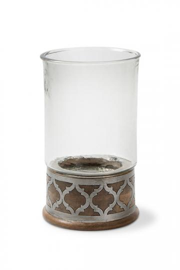 Gracious Goods   Ogee Wood & Metal Candleholder $83.50
