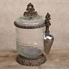 Gracious Goods Glass Canister w/scoop