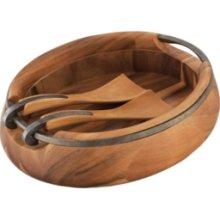 $195.00 Anvil Oval Wood Salad Bowl