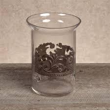 Medium Glass/Metal Cylinder Candleholder