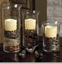 Large Glass/Metal Cylinder Candleholder