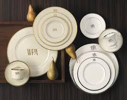 $59.00 Pickard Monogram Salad Plate White gold