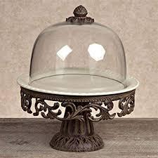 Cake Pedestal w/dome & Plate collection with 1 products