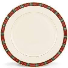 Winter Greetings Plaid Dinner Plate  collection with 1 products