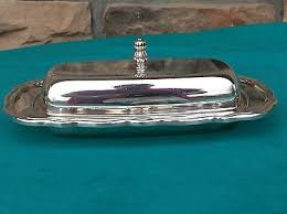Joanne's Exclusives   Reed and Barton Burgundy Butter Dish w/lid $100.00