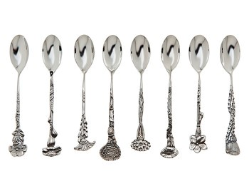$100.00 EPNS SET OF 8 COFFEE SPOONS