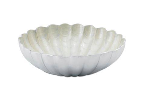 "$145.00 12"" Round Deep Bowl Snow"