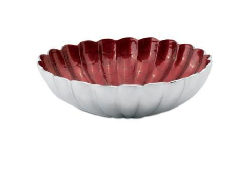"$145.00 12"" Round Deep Bowl Pomegranate"
