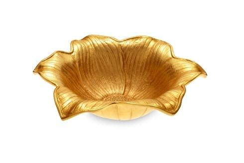 """$225.00 Lily 15"""" Bowl Gold"""