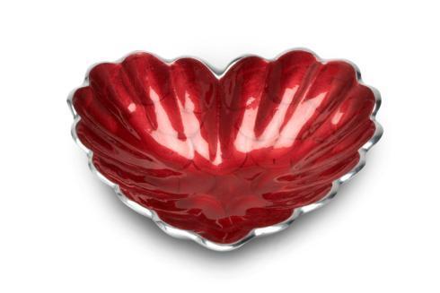 "Heart 7"" Bowl Pomegranate"