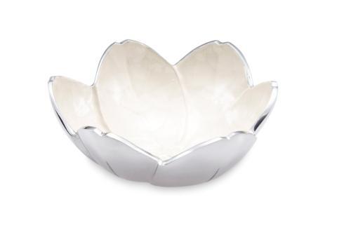 "Julia Knight Flowers Tulip 8"" Bowl Snow $75.00"