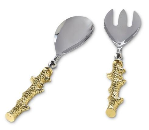 Julia Knight By The Sea Utensil Coral Salad Serving Set Gold $99.00
