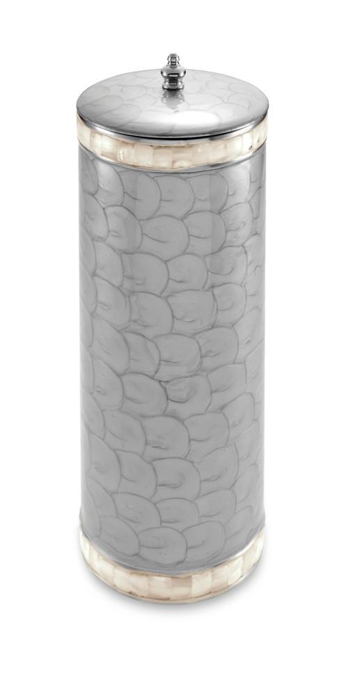Julia Knight Bath Accessories Toilet Tissue Cover Classic Toilet Tissue Covered Holder Platinum $185.00