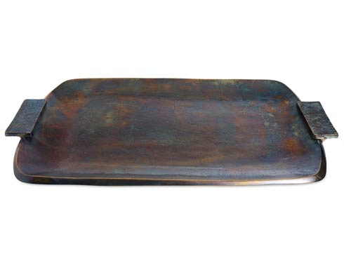 "$295.00 Eclipse 21"" Rectangular Tray with Handles Bronze"