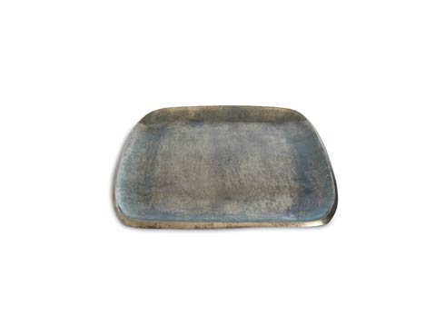 "$160.00 Eclipse 12"" Stackable Square Tray Steel Blue"