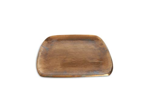 "$160.00 Eclipse 12"" Stackable Square Tray Bronze"