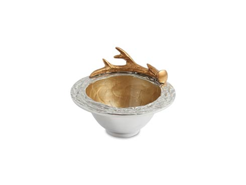 "$85.00 Antler 7"" Bowl Toffee"