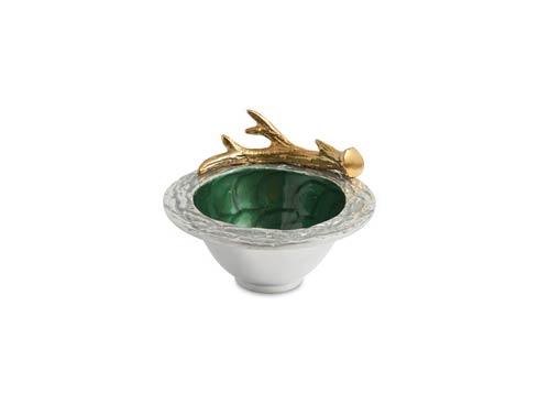 "$85.00 Antler 7"" Bowl Emerald"