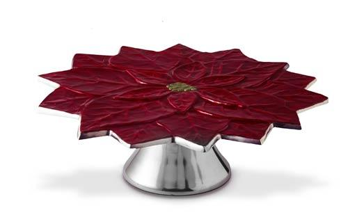 Julia Knight Holiday Cake Stand Poinsettia 13