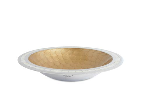 "$150.00 Classic 15"" Round Bowl Toffee"