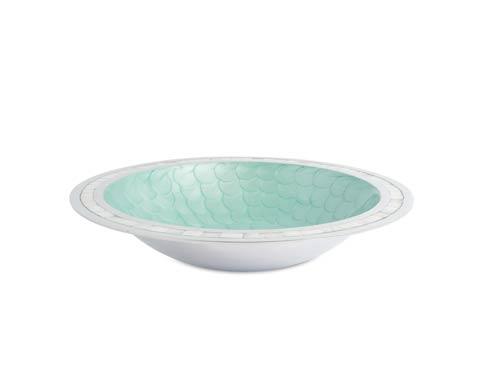 """$150.00 Classic 15"""" Round Bowl Aqua"""