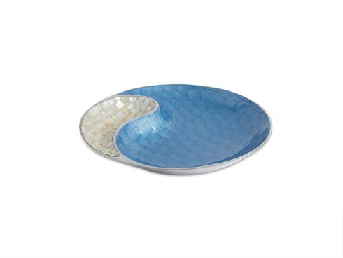 """$150.00 Classic 13"""" Yin Yang Bowl Azure"""