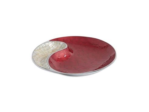 """$150.00 Classic 13"""" Yin Yang Bowl Pomegranate"""