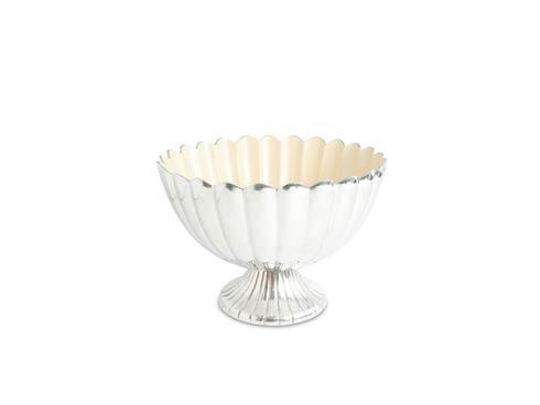 "$350.00 Peony 14.5"" Pedestal Gala Bowl Snow"