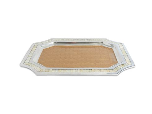 "$250.00 Classic 20"" Octagonal Tray Toffee"