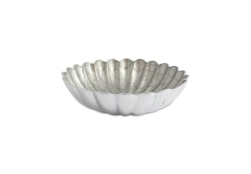 "$145.00 12"" Round Deep Bowl Platinum"