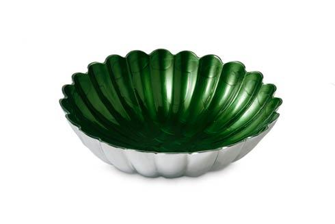 "$145.00 12"" Round Deep Bowl Emerald"