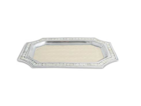 "$150.00 Classic 16"" Octagonal Tray Snow"