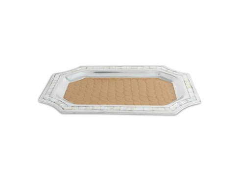"$150.00 Classic 16"" Octagonal Tray Toffee"