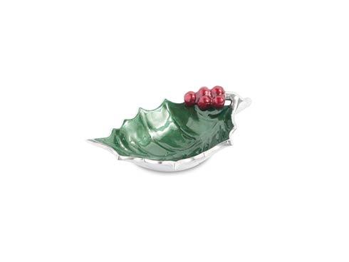 """$40.00 Holly Sprig 6.5"""" Bowl Emerald"""
