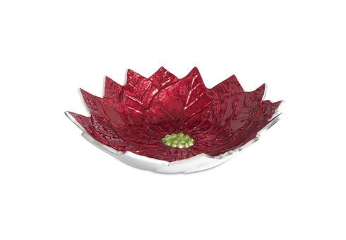 "$199.00 Poinsettia 14"" Bowl Pomegranate"