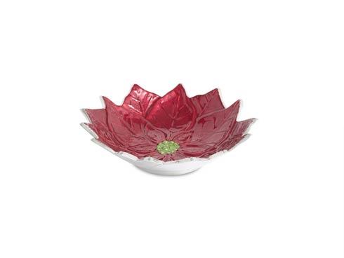 "$75.00 Poinsettia 9""  Bowl Pomegranate"