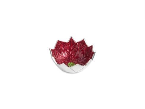 "$45.00 Poinsettia 5"" Bowl Pomegranate"