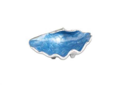 "$75.00 Tahitian Clam Shell 8"" Bowl Azure"
