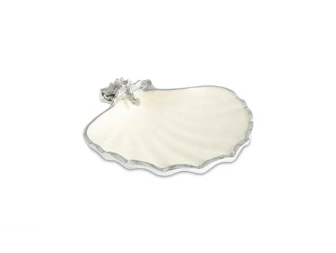 "$85.00 Scallop Starfish 8.5"" Bowl Snow"
