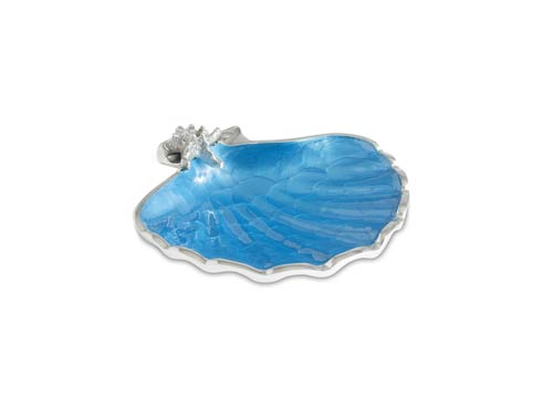 "$85.00 Scallop Starfish 8.5"" Bowl Azure"