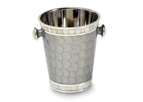 "Julia Knight Barware Ice Bucket Classic 8"" Ice Bucket/ Wine Chiller Platinum $150.00"
