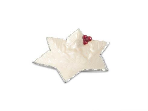 "$40.00 Holly Sprig 6"" Starflake Bowl Snow"