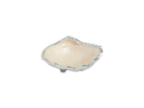 """$40.00 Tahitian Clam 5"""" Petite Bowl Snow"""