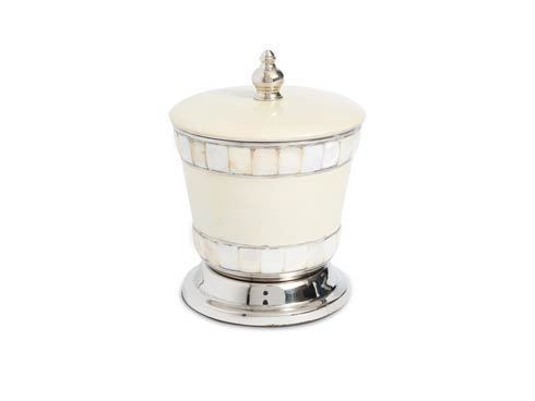 "$60.00 Classic 5.5"" Covered Canister Snow"